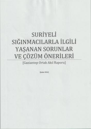 Gaziantep Ortak Akıl Raporu