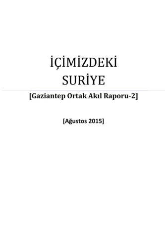 Gaziantep Ortak Akıl Raporu - 2